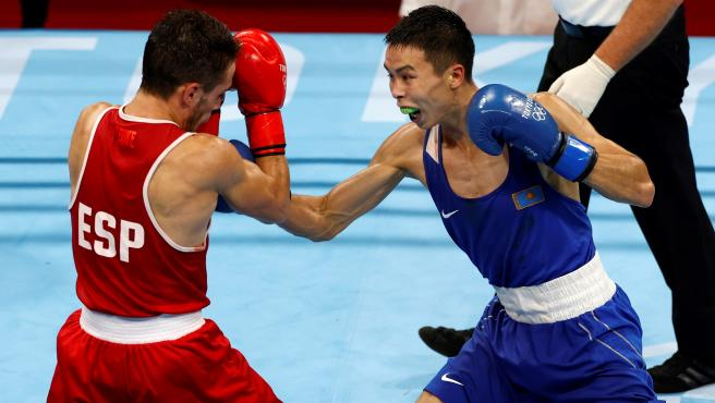 Gabriel Escobar y Saken Bibossinov, en los Juegos Olímpicos de Tokio