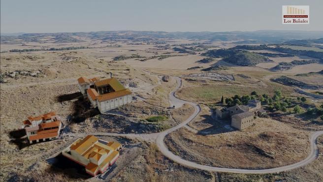 Recreación en 3D del yacimiento de Los Bañales, en Uncastillo (Aragón).