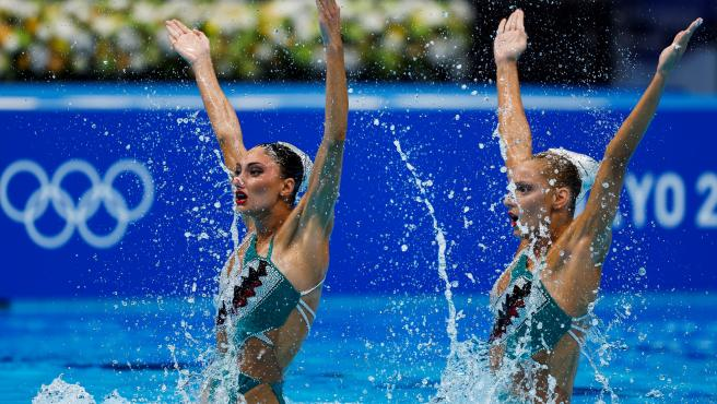 Kominea y Papazoglou, nadadoras de sincronizada de Grecia en Tokio 2020