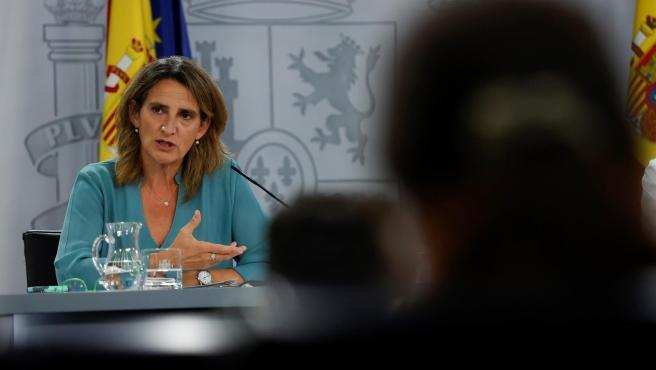 La vicepresidenta tercera y ministra de Transición Ecológica, Teresa Ribera.
