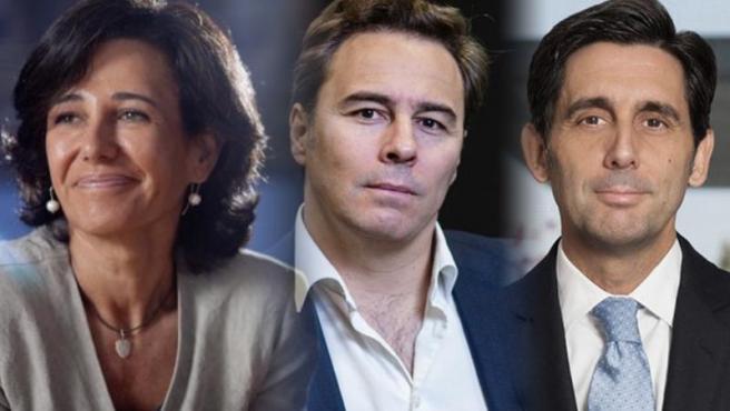 Ana Botín, Dimas Gimeno y Pallete