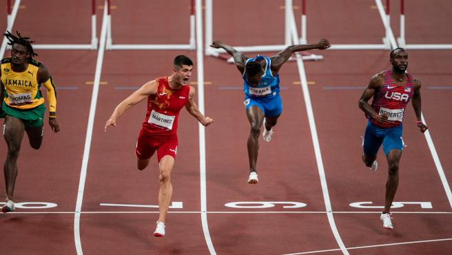 Asier Martínez, en los 110m vallas