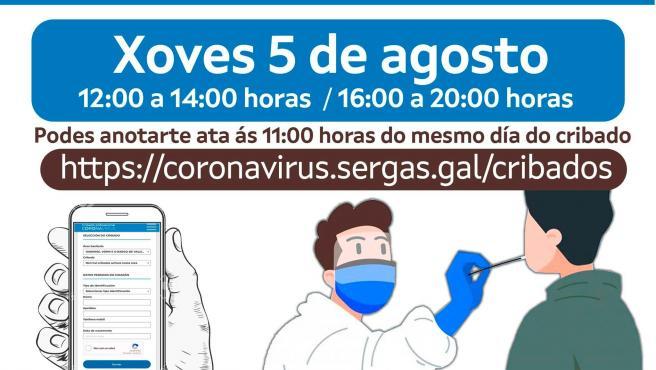 Detectados 9 positivos entre más de mil pruebas en el 'VaciCrib' de Ourense
