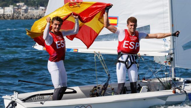Jordi Xammar y Nicolás Rodríguez celebran el bronce