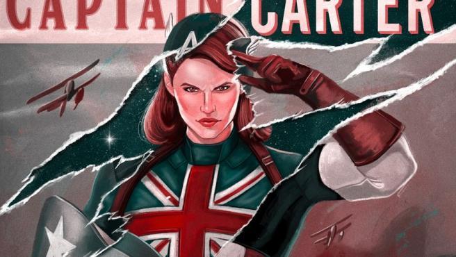 La Capitana Carter en un póster de '¿Qué pasaría si...?'.