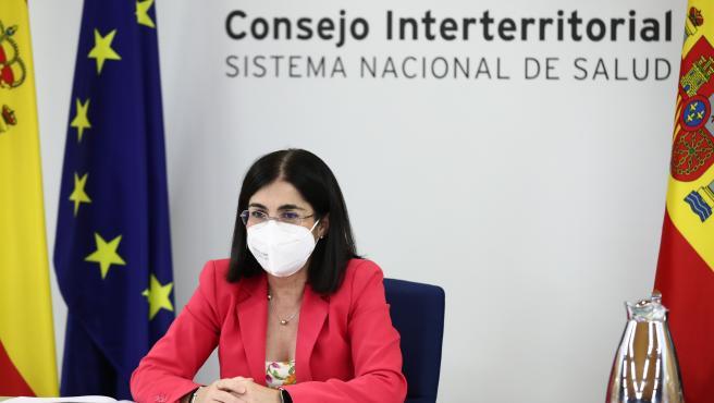 La ministra de Sanidad, Carolina Darias, preside la reunión del Consejo Interterritorial de Salud de este miércoles, 4 de agosto de 2021.