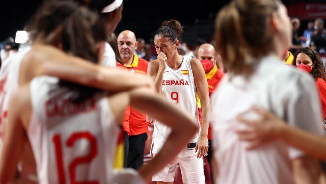 Laia Palau, entre lágrimas, tras la eliminación de España.