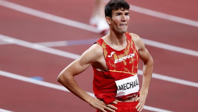 El atleta español Adel Mechaal tras las semifinales de 1500.