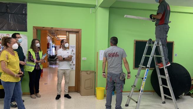 Comienzan las obras de reforma de la instalación eléctrica de baja tensión del Colegio Público Santa Bárbara