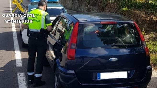 Investigado un conductor por circular con alcoholemia positiva a 135 km/h en un tramo limitado a 50 en Camariñas