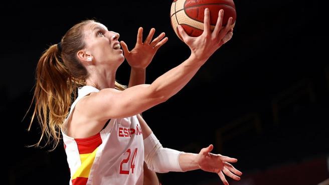 Laura Gil, jugadora de la selección española de baloncesto.
