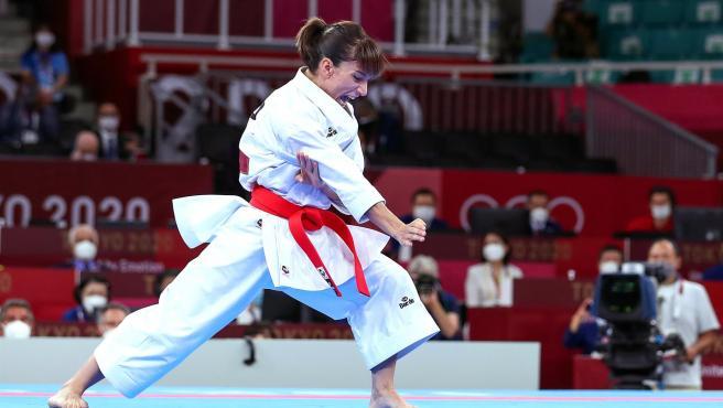 Sandra Sánchez durante los Juegos Olímpicos de Tokio
