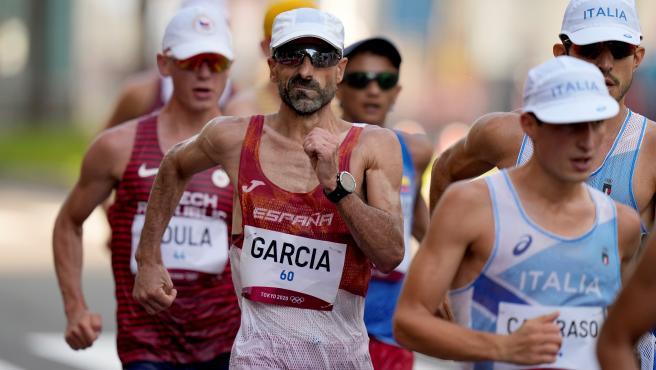 Jesús García Bragado, en los 50 km marcha de Tokio 2020