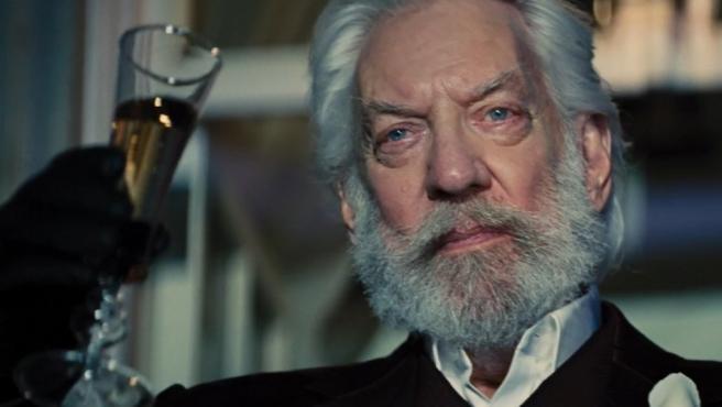 Donald Sutherland en 'Los juegos del hambre'