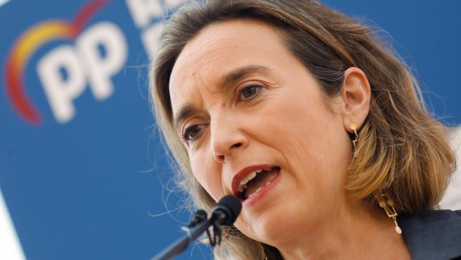 22-07-21 La portavoz del PP en el Congreso de los Diputados, Cuca Camarra ha realizado unas declaraciones previas a la conferencia que va ha ofrecer en el marco de los cursos de verano del PPRM junto a Francisco Abril