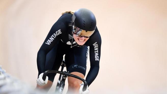 La ciclista neozelandesa Olivia Podmore.