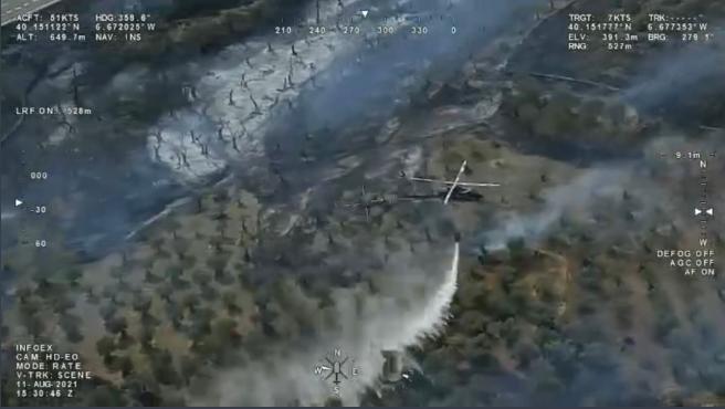 El Infoex desactiva el nivel 1 de peligrosidad al quedar estabilizado el incendio en Perales del Puerto