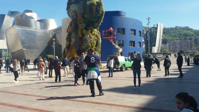 Guggenheim Bilbao recibió 25.865 visitantes en la primera semana de agosto, el doble que en el mismo periodo de 2020