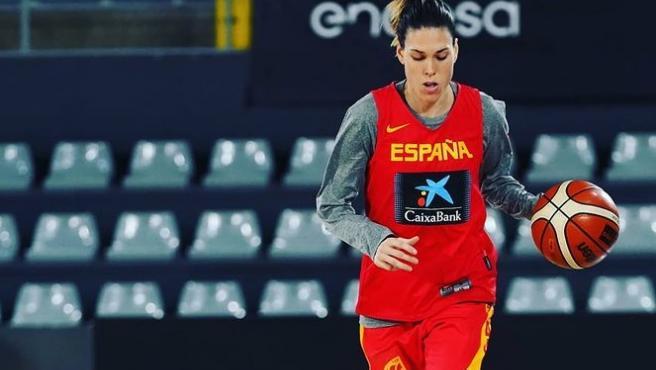 Anna Cruz, con la selección española.