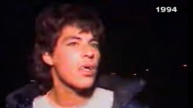 Cesáreo 'El Chicharra', durante la famosa entrevista en el programa 'Al Ataque' en el año 1994.