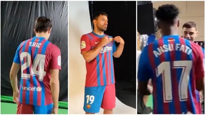 Algunos de los dorsales filtrados de la plantilla del FC Barcelona.