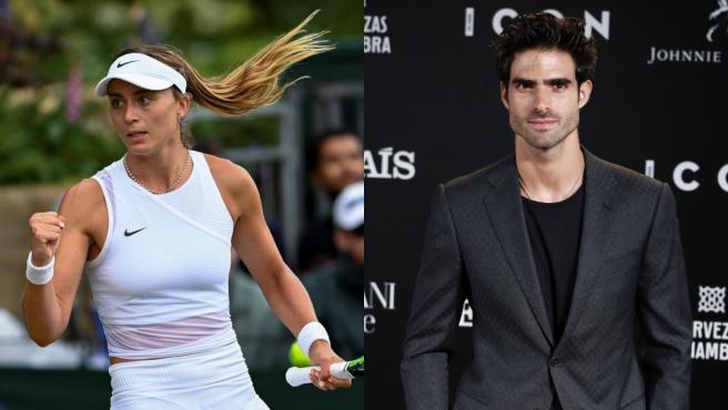 La tenista Paula Badosa y el modelo Juan Betancourt.