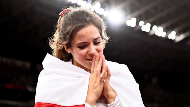 La atleta polaca Maria Andrejczyk.