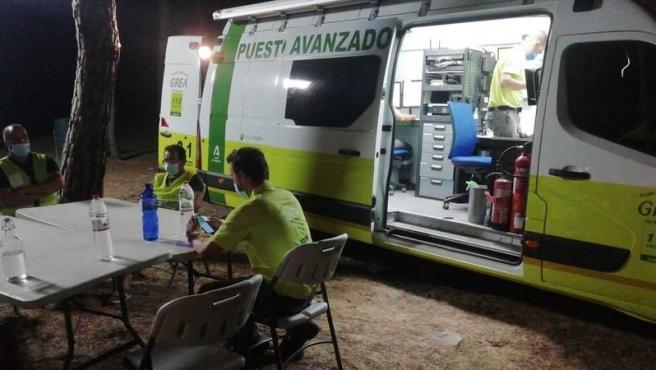 Incendios.-Activado el nivel 1 del Plan de Emergencias por un incendio en Bonares, que ha obligado a desalojos