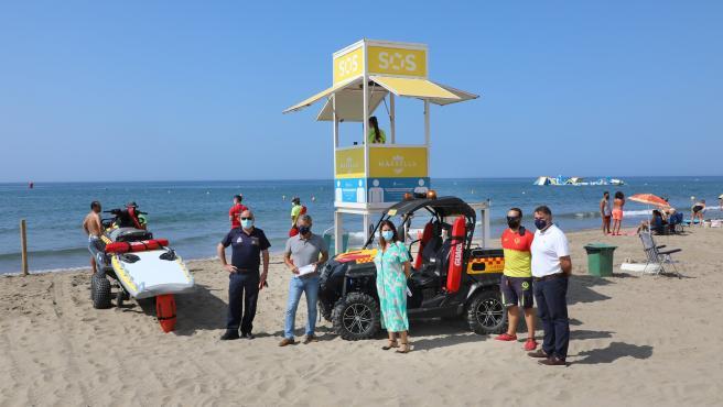 El dispositivo de seguridad de las playas de Marbella interviene en más de 30.000 incidencias este verano