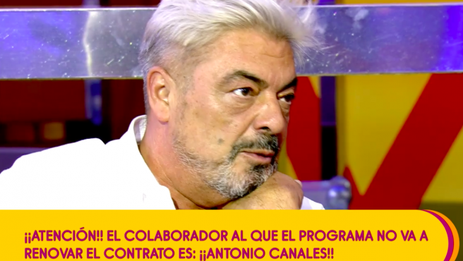 Antonio Canales en el programa de este pasado miércoles.