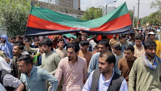 Un acto de celebración de la independencia en Afganistán.