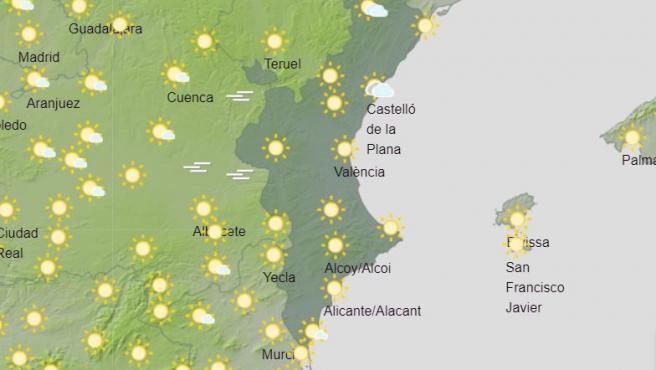 Cielos poco nubosos y chubascos dispersos ocasionales en el interior norte de Castellón
