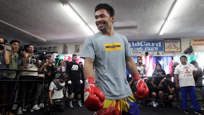 El boxeador filipino Manny Pacquiao