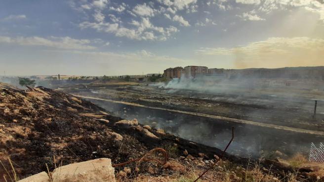Controlado un incendio en Cuenca capital que ha afectado a los terrenos de Renfe