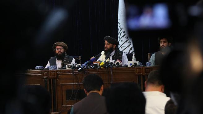 Rueda de prensa de los talibán