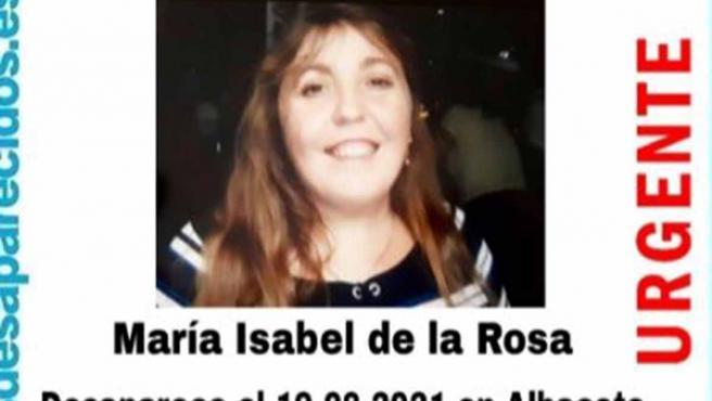 Cartel de búsqueda de María Isabel de la Rosa Cozar.