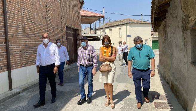 El presidente de la Diputación de Segovia visita proyectos sociales y culturales desarrollados en la provincia