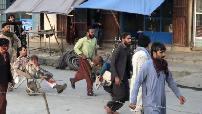 Varios heridos en las dos explosiones registradas en Kabul.