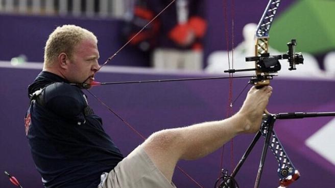 Stutzman durante una competición.