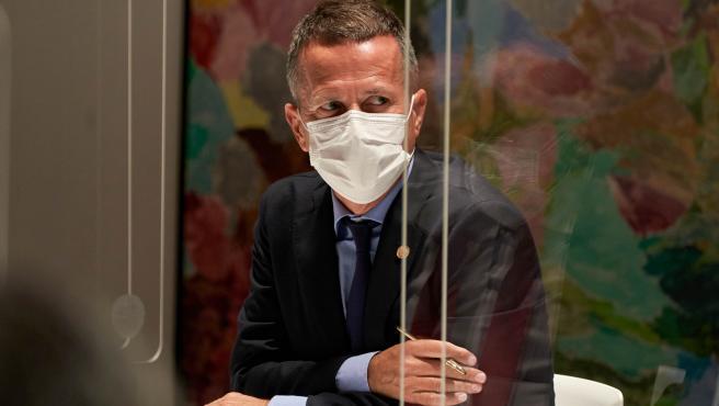 30-08-2021, Vitoria. el lehendakari, Iñigo Urkullu, preside el comité asesor del Plan de Protección Civil de Euskadi que decide si se flexibilizan las restricciones en vigor para contener la pandemia de coronavirus y