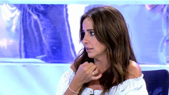 Carmen Alcayde en 'Sálvame'.