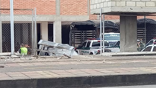 Explosión en una estación de Policía en Colombia.