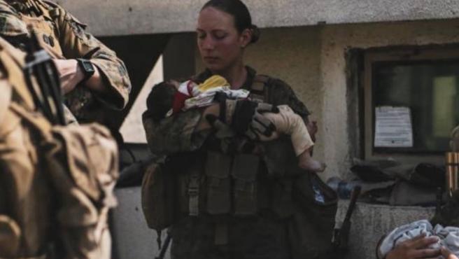 Sargento de Infantería de la Marina, Nicole Gee, fallecida en el atentado de Kabul
