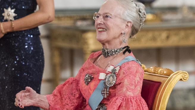 Margarita II de Dinamarca en octubre de 2018