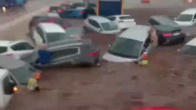 Cortada la N-400 en Toledo tras la tormenta