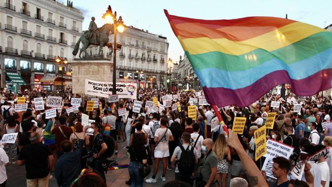 Manifestación contra la homofobia en Madrid.