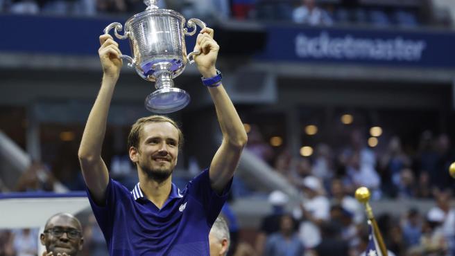 Daniil Medvedev, tras proclamarse campeón del US Open.