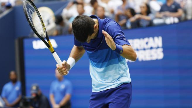 Djokovic, durante la final del US Open.