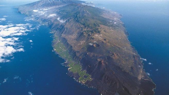 Imagen aérea de la isla de La Palma.