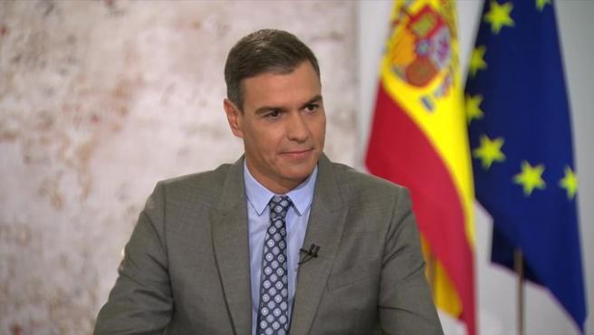 Pedro Sánchez, en la entrevista en TVE.